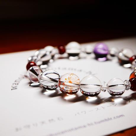 お守り天然石のブレスレット(愛、調和、成功運、金運、願望成就)