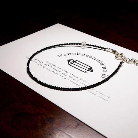 オーダーナンバーA108708【 M様ご予約分 】ブラックスピネル・ハーキマーダイヤモンド アンクレット