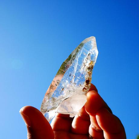 ガネーシュヒマール産ヒマラヤ水晶ポイント(光沢・透明度)