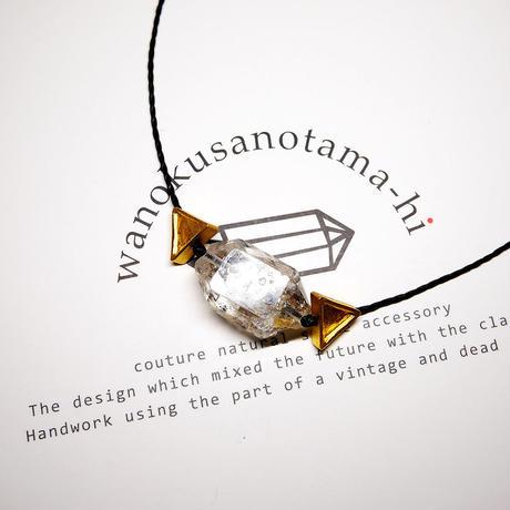 オーダーナンバーA108729【 I様ご予約分 】パキスタン産ヒマラヤ水晶クリスタル ネックレス(三角モチーフ)セット