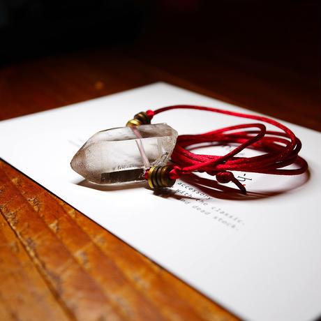 ガウリシャンカール産ヒマラヤ水晶(ライトスモーキー)真鍮パーツネックレス B