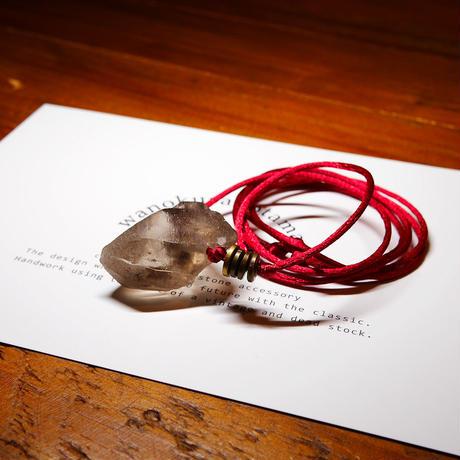 ガウリシャンカール産ヒマラヤ水晶 真鍮パーツネックレス KBA
