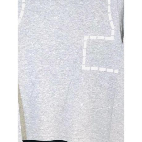 後ろポリエステル水玉Tシャツ CRESCENT