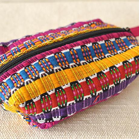 グアテマラ エスニック 化粧ポーチ(ピンク)