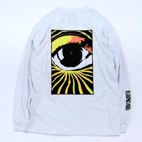 VINYL JUNKIE - Third Eye Music Ver.3 Long Sleeve Tee / Ash