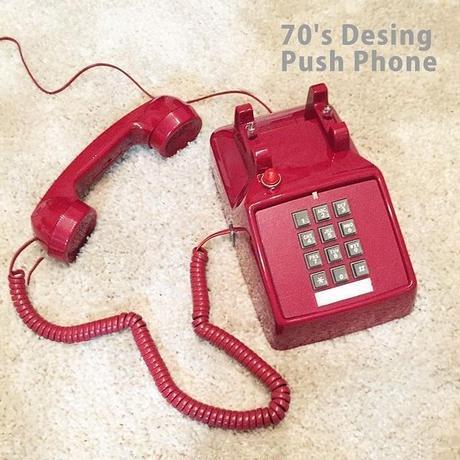 70's Desing Push Phone プッシュ式電話機