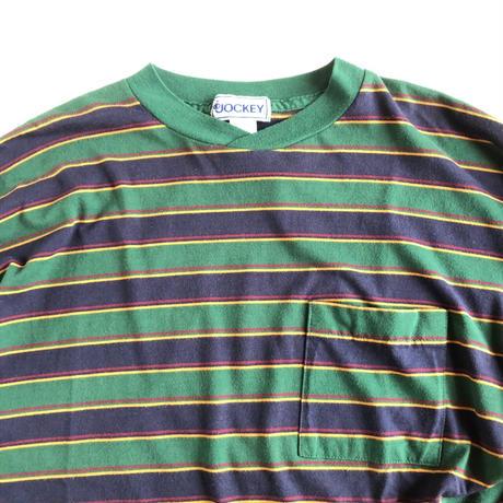Jockey / L/S multi border tee (polyester & cotton)