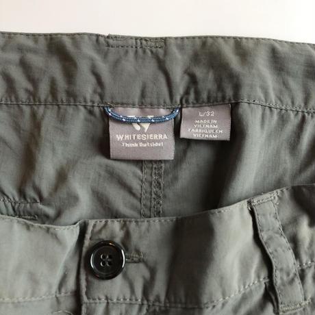 White Sierra / convertible nylon pants