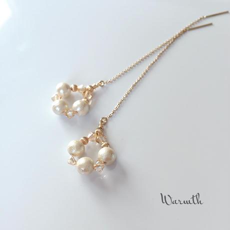 14kgf / cotton pearl & swarovski