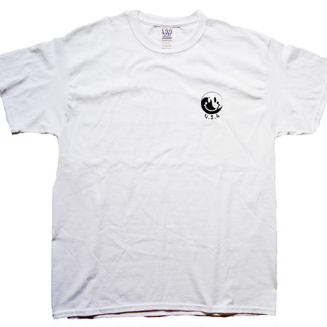 yin-yang smiley TEE(WHITE/BLACK)