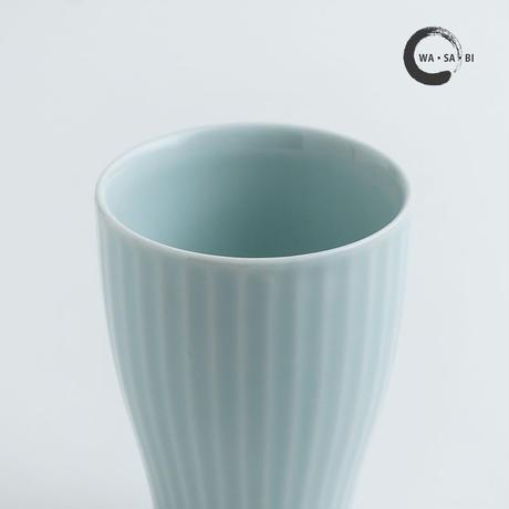 和茶美ーしのぎ 立小煎茶碗 青磁