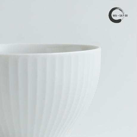 和茶美ーしのぎ 煎茶碗 白マット