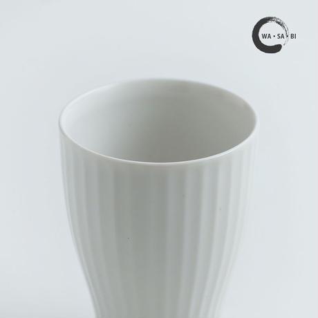 和茶美ーしのぎ 立小煎茶碗 白マット