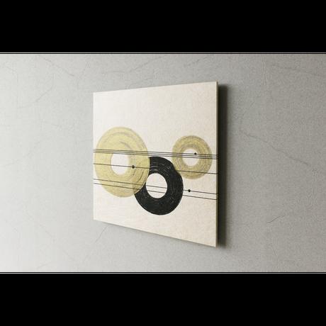 和紙アートパネル「結」-Washi Wall Art Panel 450×450