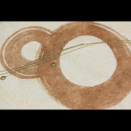 創作デザイン和紙(柿渋)(商品番号:as-160209)