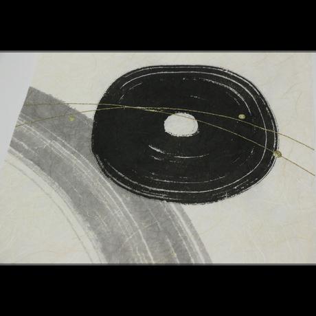 創作デザイン和紙(墨)3枚組(商品番号:as-18802)  角型パネル加工対応品