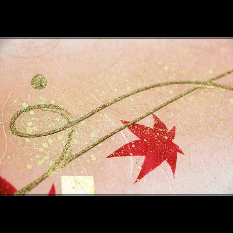 創作デザイン和紙(もみじ)(商品番号:as-20607)