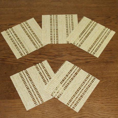 和紙製コースター5枚セット わさび