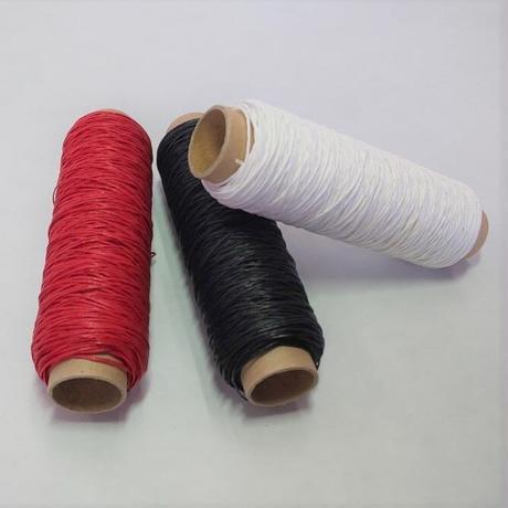 和紙糸3色セット(レッド・ブラック・ホワイト)