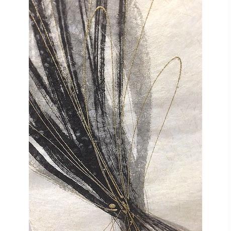 創作和紙インテリアタペストリー「紙禅」~Shi-Zen/和モダン墨デザイン18