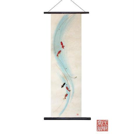 創作和紙 インテリアタペストリー「紙禅」~Shi-Zen金魚/Gold fish 02