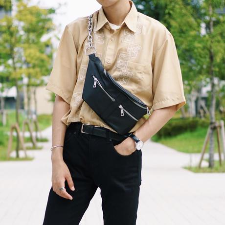 刺繍柄シャツ 半袖