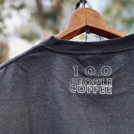 "coffee ""3 Cups"" Tee Shirts  (Smoke Black)"