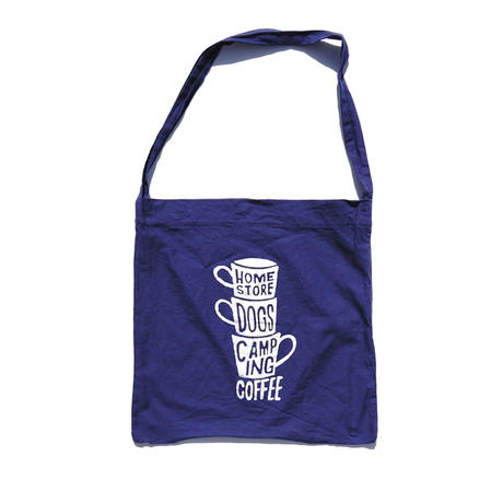 "coffee ""3 Cups"" ECO BAGショルダー (WORK BLUE )"