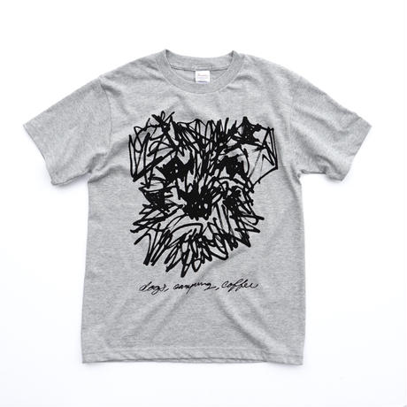 "dog DRAWING ""Schnauzer"" Tee Shirts  TOP GREY"