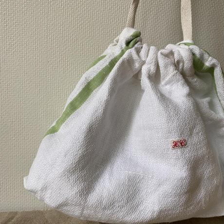 Military belt & leather one shoulder bag + Antique cloth pouch
