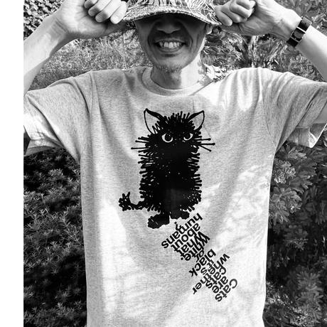 """BLACK CAT"" Tee Shirts GREY"