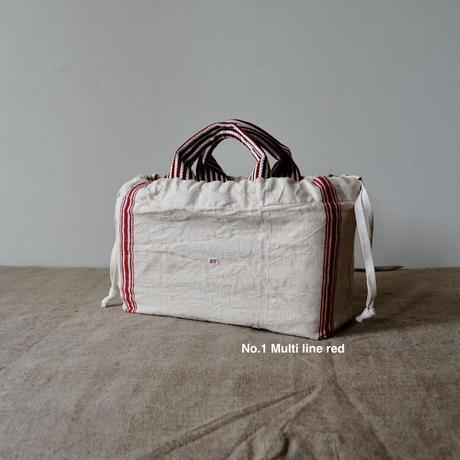 tote basket + Antique cloth pouch