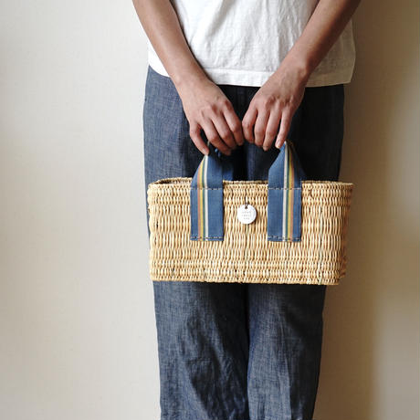 カゴトートBAG SMALL ( BLUE MULTI STRIPE) シリアルNo.067,069