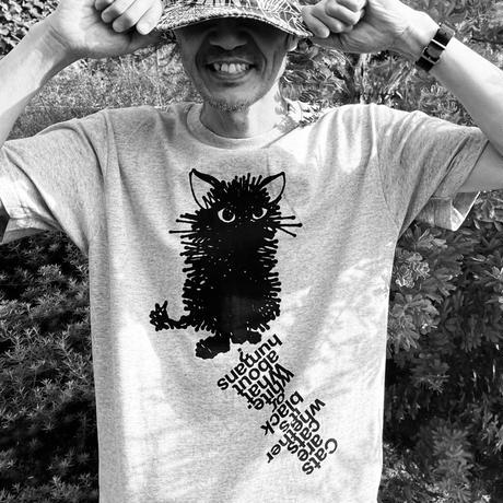 """""""BLACK CAT"""" Tee Shirts WHITE"""