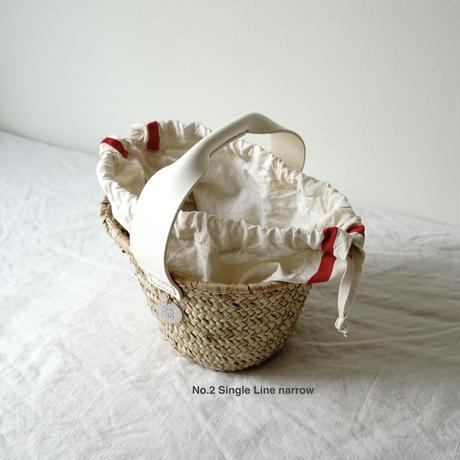 White Leather handle BAG+ antique cloth pouch