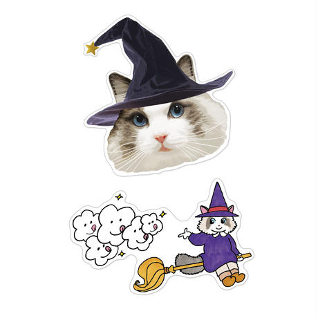 CAT is WITCH ステッカー