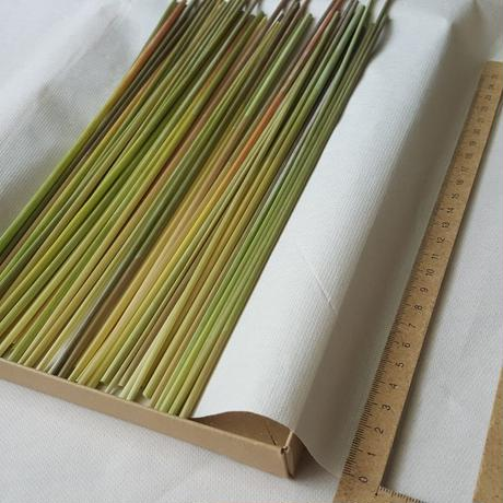 ライ麦の藁 ヒンメリ用 Mサイズ 約50本 自家自然栽培2020年産