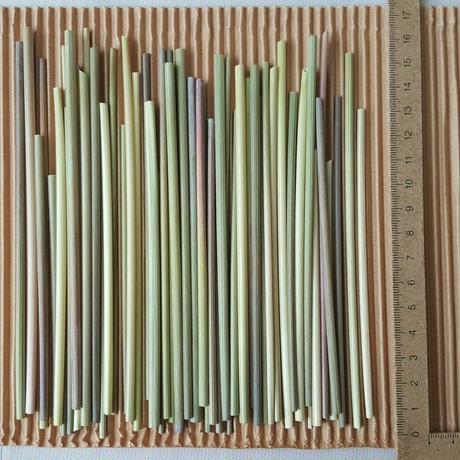 ライ麦の藁 ヒンメリ用 お試しサイズ 約50本 送料無料  自家自然栽培2020年産