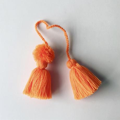 ポンポンタッセル・オレンジ(ネパール)