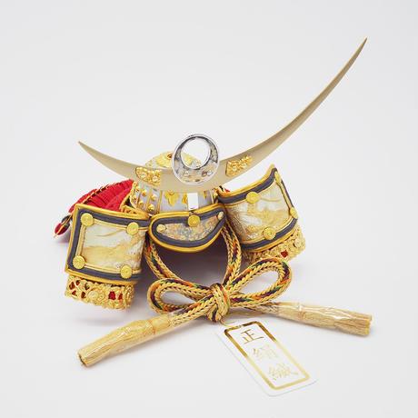 上杉謙信兜・龍神彫金ゴールド【桜押絵飾り】