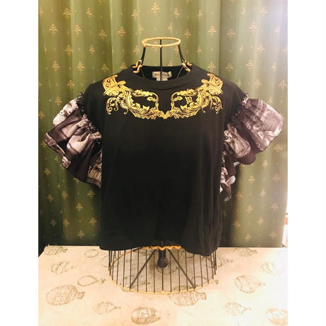 microcosm×kahoフリルTシャツ