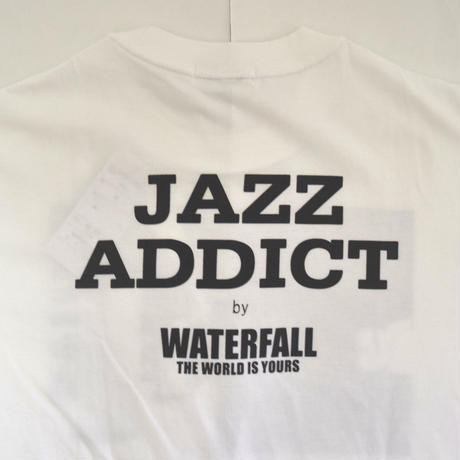 「JACO PASTORIUS」ver.5ジャズTシャツ(写真家・内山繁氏コラボ) WATERFALL  S/ M/ L / LL