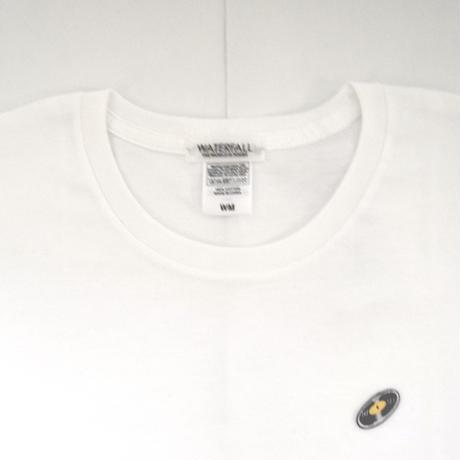 「 レコードワッペンワンポイントTシャツ(※レディース)」 ホワイト WATERFALL WM / WL