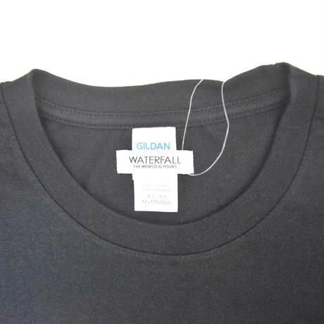 「猫バンド」レコードワッペン猫ツアーTシャツ  ブラック S/M/L WATERFALLオリジナル限定商品