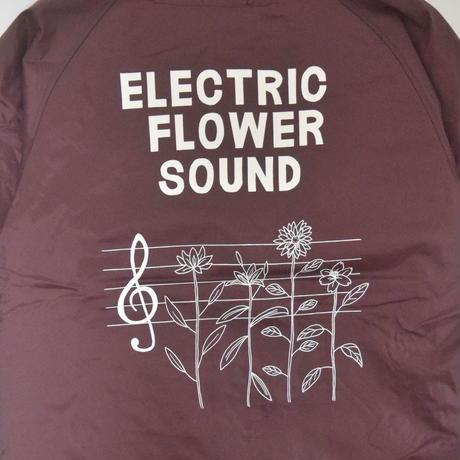 「レコードワッペンコーチJK(ELECTRIC FLOWER)」 ワイン  S/M/L/XL WATERFALL新作