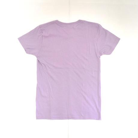 「 レコードワッペンワンポイントTシャツ(※レディース)」 ラベンダー WATERFALL WM / WL