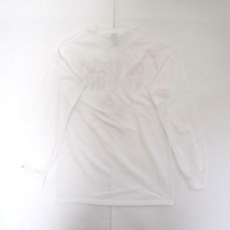 「デトロイトテクノ長袖Tシャツ(DETROIT TECHNO)」ホワイト S/M/L 2021SS  WATERFALL