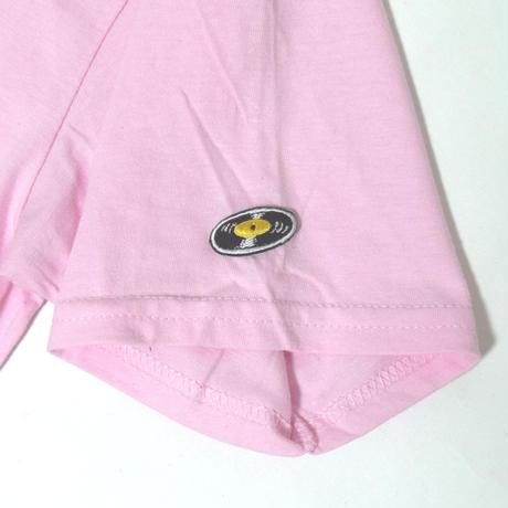 「猫バンド」レコードワッペン猫ツアーTシャツ 2021SS新色 ピンク S/M/L WATERFALL限定商品