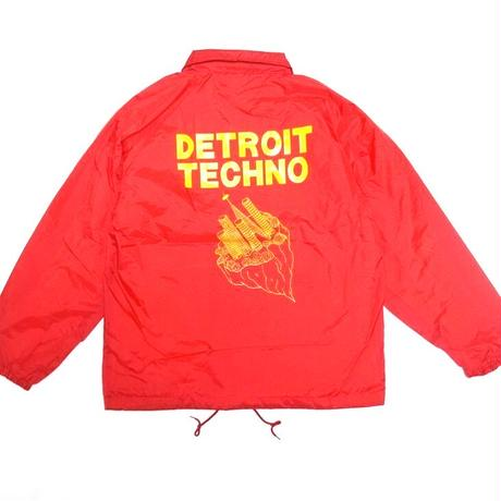 「レコードワッペンコーチJK(DETROIT TECHNO)」 レッド  S/M/L/XL WATERFALL新作