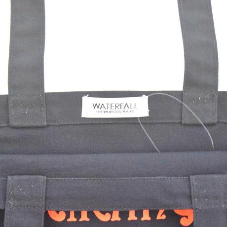 「猫アンプ」猫ツアートートバック レコードバッグ  ネイビー F  WATERFALLオリジナル限定商品